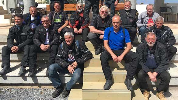 Teilnehmer der Motorradtouren auf Kreta